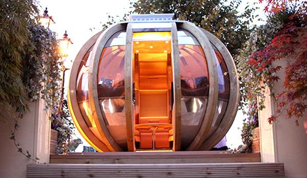 Ein futuristisches Sommerhaus