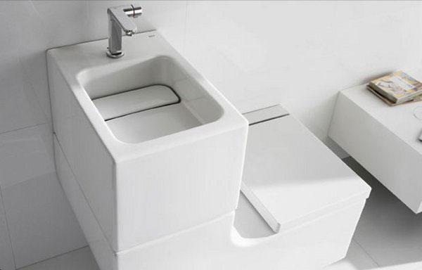 WC und Waschbecken