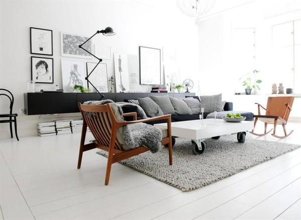 Wohnen in Schwarz-Weiß
