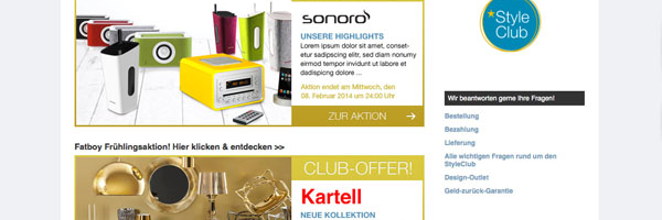 StyleClub – der neue Shopping Club by AmbienteDirect.com