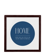 Print mit Rahmen Home is
